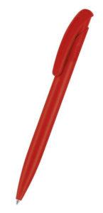 Premium Bio Plus Matt - Druckkugelschreiber aus biobasiertem PLA-Kunststoff in rot