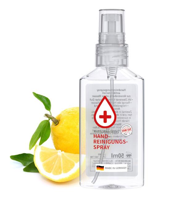 Geanel Handreinigungsspray 50 ml - Antibakterielles Spray im Fläschchen
