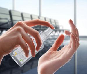 Geanel Handreinigungsspray 50 ml - Antibakterielles Spray im Fläschchen für unterwegs