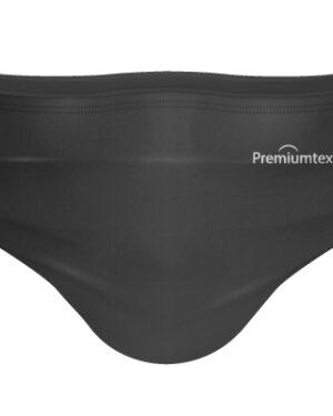 Premiumtex Baumwollmaske in schwarz mit Aufdruck