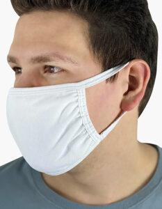 Premiumtex Mund-und-Nasenmaske 100% Baumwolle OEKO Tex Standard 100 in weiss