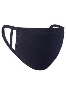 Premiumtex Mund-Nasen-Maske flex aus Baumwolle in schwarz im 5-er Pack
