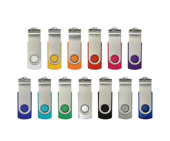 Gemaco USB-Stick in vielen Farben mit drehbarem Bügel