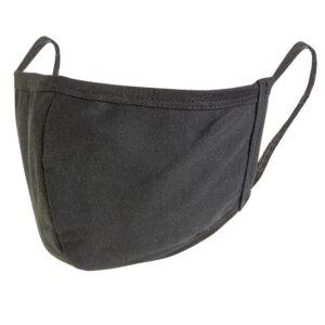 Premiumtex Mundnasenmaske Baumwolle OEKO-Tex schwarz
