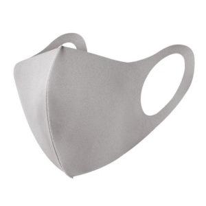 Mundschutzmaske in grau aus Baumwolle
